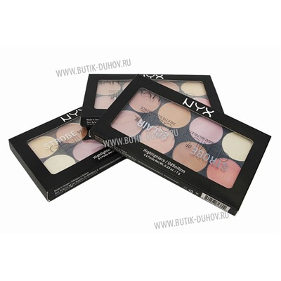 Палетка для стробинга NYX Strobe of Genius illuminating palette 8x7g